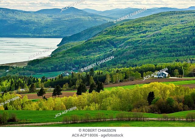View from Les A‰boulements in the direction of Baie-Saint-Paul, Charlevoix, Quebec, Canada