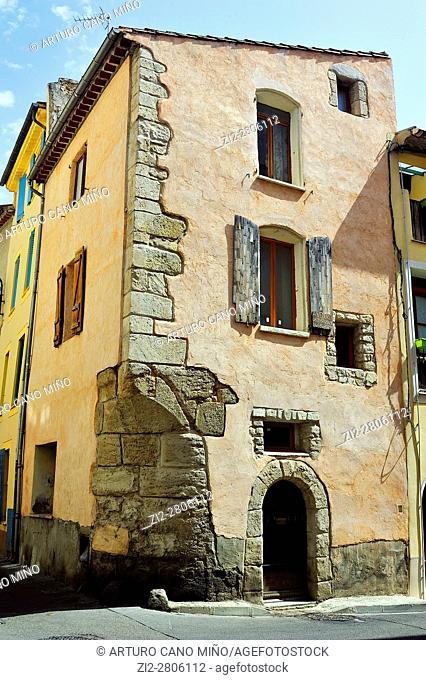 Traditional architecture. Narbonne city, Aude department, Occitanie region, France