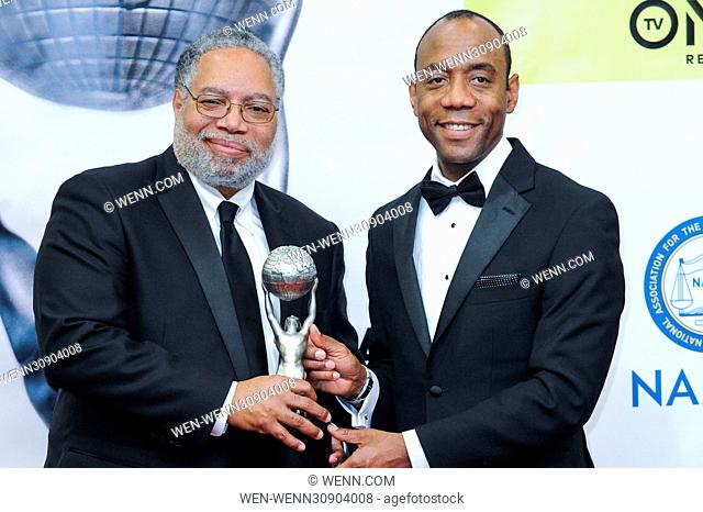 Celebrities and Honorees in the press room at the 48th NAACP Awards at the Pasadena Civic Center Featuring: Lonnie Bunch, Cornell W