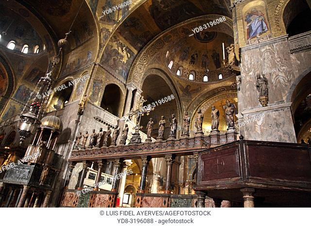Italy, Venice, interior of Saint Mark's Basilica