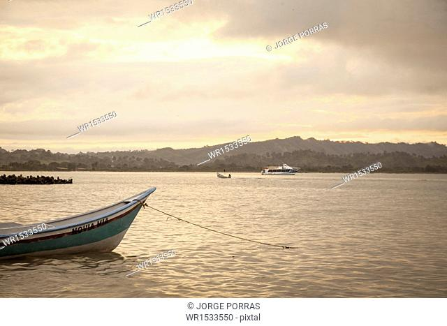 Boats in the Sea, Necocli, Uraba, Antioquia, Colombia