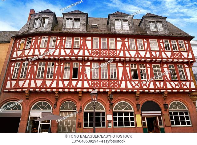 Frankfurt Romerberg square Old city historic center in Germany