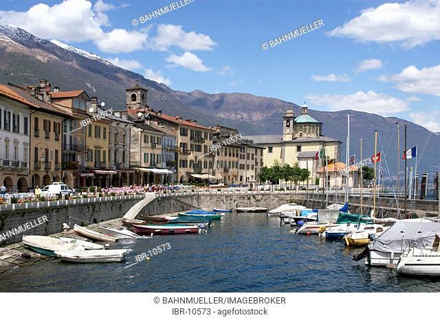 Cannobio at the Lake Maggiore Lago Maggiore Piedmont Piemonte Italy