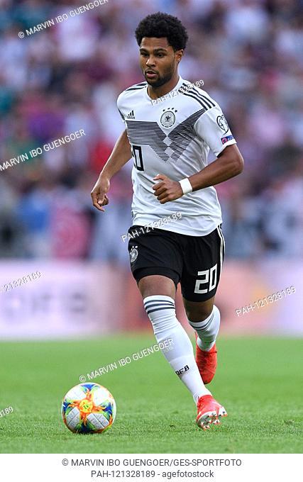 Serge Gnabry (Germany). GES / Soccer / EURO Qualification: Germany - Estonia, 11.06.2019 Football / Soccer: European Qualifiers: Germany vs Estonia, Mainz