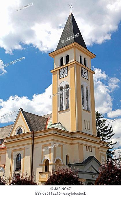 Evangelist church at town Ruzomberok - Slovakia