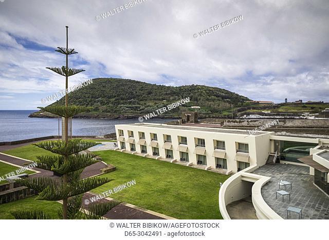 Portugal, Azores, Terceira Island, Angra do Heroismo, Fortaleza do Sao Sebastiao fort hotel