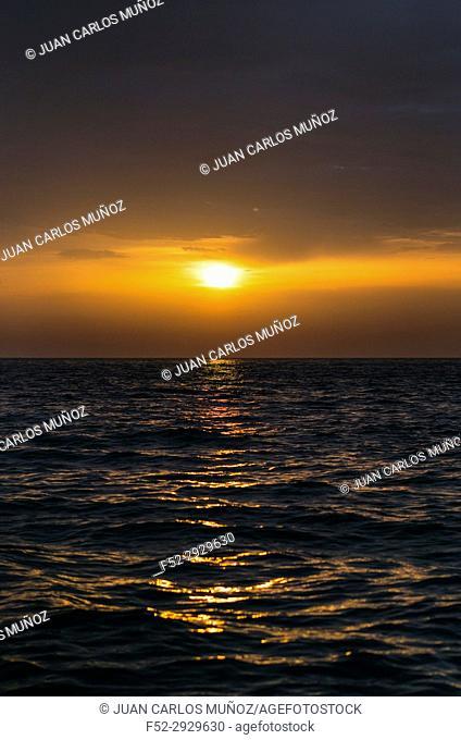 Sunrise in Cantabrian Sea, MOC - MONTAÑA ORIENTAL COSTERA, Laredo, Cantabria, Spain, Europe