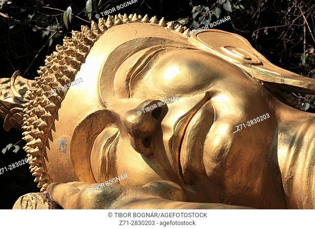 Laos, Luang Prabang, Phousi Hill, Buddha statue,