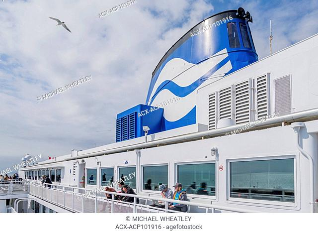 Funnel and deck of BC Ferry