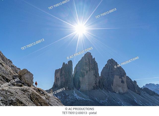 Tre Cime di Lavaredo in South Tyrol, Italy