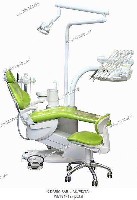 Dentist Chair Isolated with Clipping Path