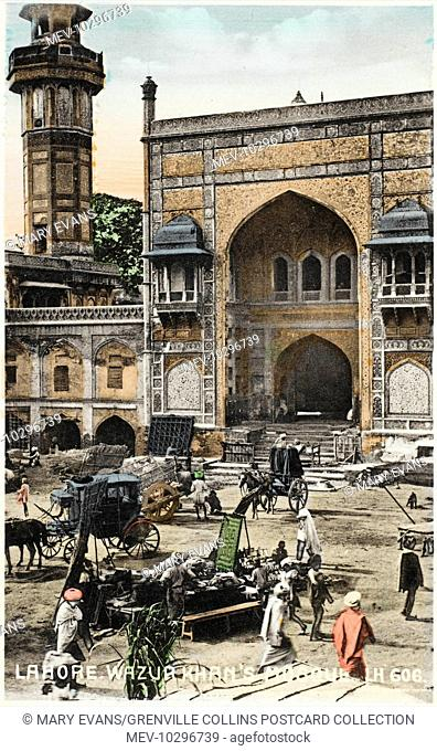 The Wazir Khan Mosque in Lahore, Pakistan - built in seven years, starting around 1634-1635 A.D., during the reign of the Mughal Emperor Shah Jehan