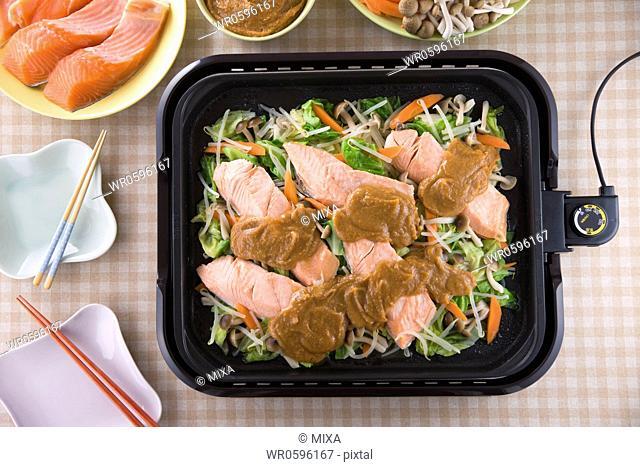 Chanchan-yaki on Hot Plate