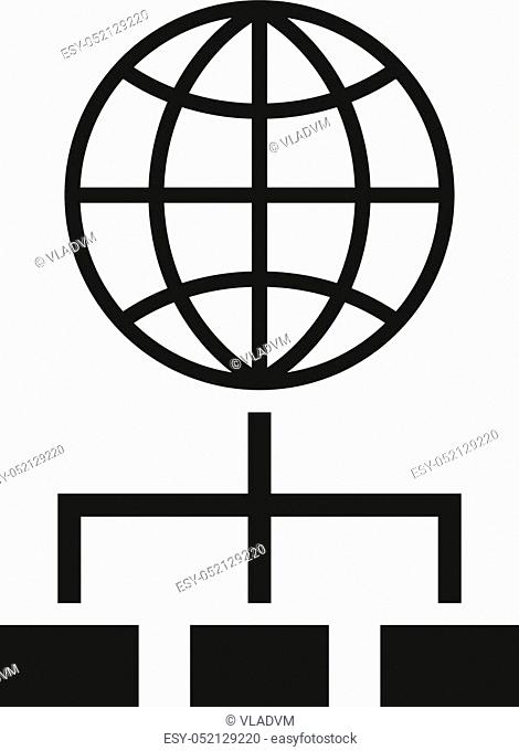 The SEO icon. WWW and browser, development, search symbol. UI. Web. Logo. Sign Flat design App Stock vector