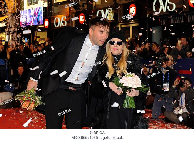 Briga and Patty Pravo on the Red Carpet of the 69th Sanremo Music Festival. Sanremo (Italy), Fabruary 4th, 2019