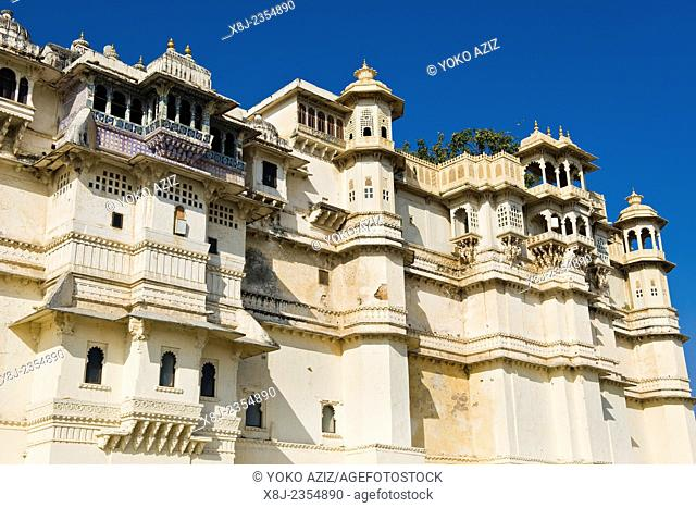 India, Rajasthan, Udaipur, City palace