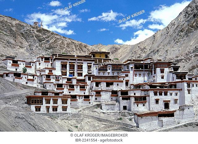 Buddhist Yellow Hat Rizong, Rhizong or Yuma Changchubling Monastery, Gompa, Ladakh, Jammu and Kashmir, North India, India, Asia