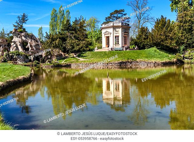 Lagoon with house in Versailles in Paris, France