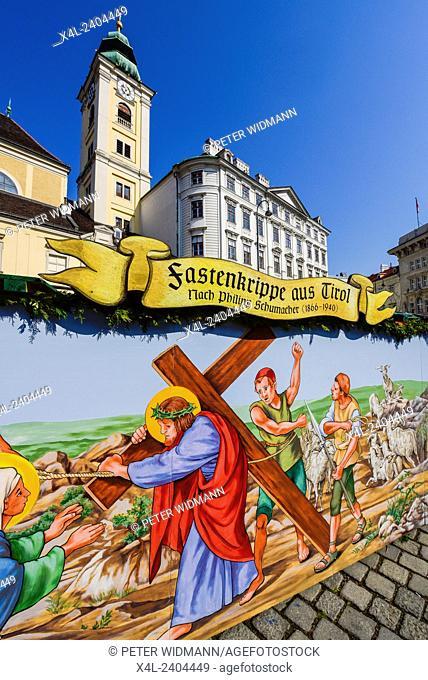 Vienna, Freyung, Altwiener Ostermarkt, Viennese Easter Market, Tiroler Fastenkrippe, Austria