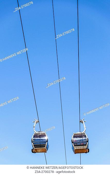 Tereferico de Gaia, Cable car construction in Vila Nova de Gaia, Portugal