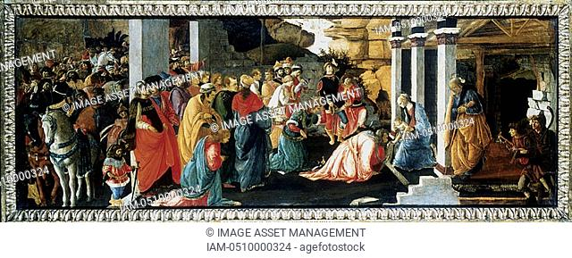 BOTTICELLI 1445-1510 The Adoration of the Magi  National Gallery, London