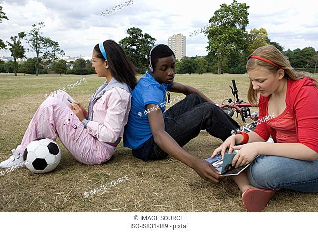 Teenagers in the park