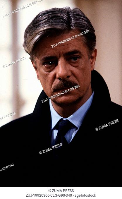 Mar 06, 1992; Rome, ITALY; Actor GIANCARLO GIANNINI as Inspector Bonnard in the Eugene Levy directed comedy, 'Once Upon a Crime