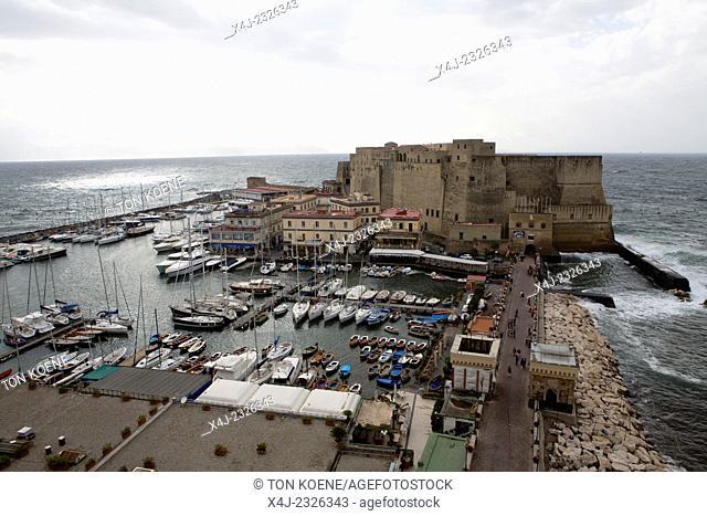 castle dell'ovo at borge mariani. It is a view from grand hotel vesuvio