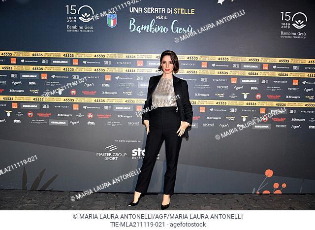 Andrea Delogu during the charity show ' Una serata di stelle' for the Hospital Bambino Gesu', Paul VI Hall, Vatican City, ITALY-20-11-2019