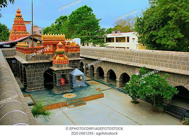Internal view of Vitthal Mandir with Lord Ganesha, Vithalwadi wadi, Prati Pandharpur, Pune