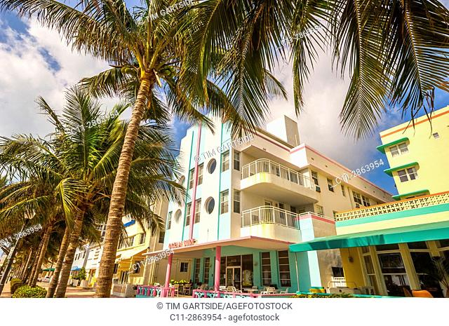 ocean surf Hotel, South Beach, Ocean Drive,Miami, Florida, USA