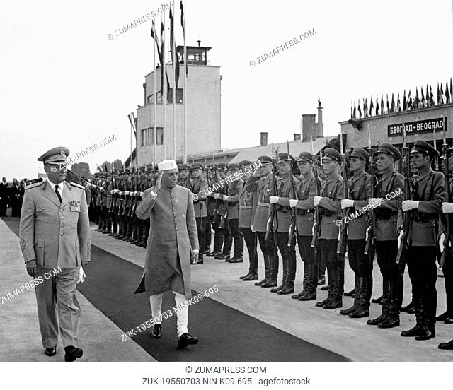 July 3, 1955 - Belgrade, Yugoslavia - An Indian nationalist leader and statesman who became the first prime minister of independent India in 1947