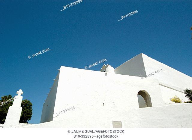 Church of Santa Eulària del Riu. Ibiza, Balearic Islands. Spain