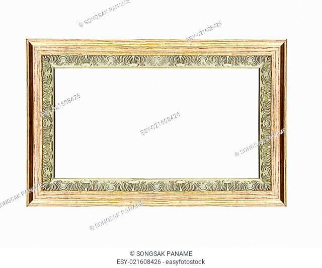 Empty wooden vintage frame