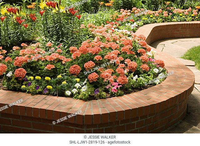 Raised Brick Flower Beds Stock Photos And Images Agefotostock