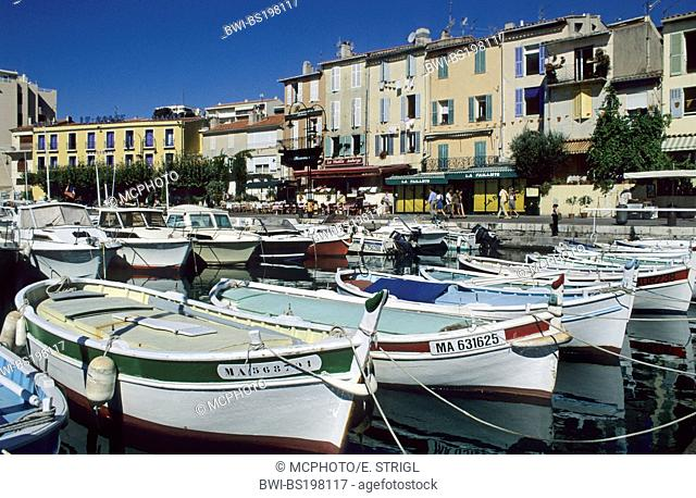 fishing boats in the harbour of Cassis, France, Provence