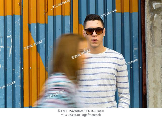 Teenager girl passing by