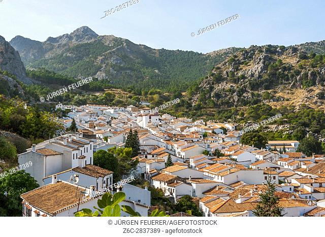 mountain village Grazalema, White Towns of Andalusia, Sierra de Grazalema Natural Park, province of Cádiz, Spain