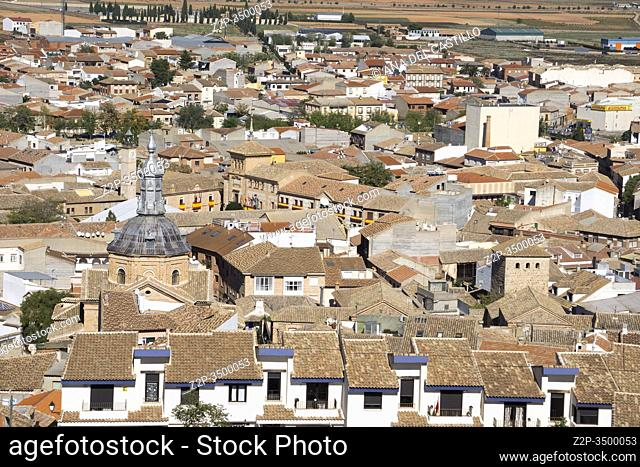 Consuegra Toledo province La Mancha: view from the windmills on the hill
