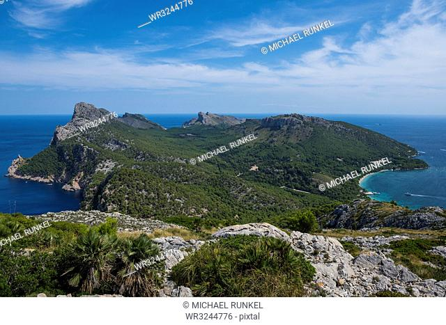 View over Cap Formentor, Mallorca, Balearic Islands, Spain, Mediterranean, Europe