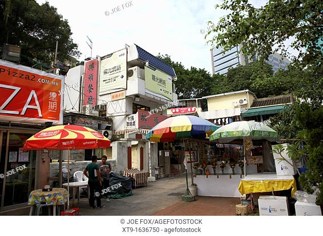 small restaurants and cafes in converted old houses pai tau village sha tin hong kong hksar china asia
