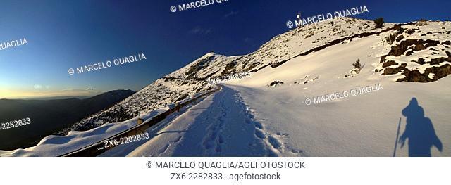 Turo de l'Home Peak of 1706 mts. Winter at Montseny Natural Park. Barcelona province, Catalonia, Spain
