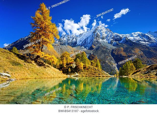 Lac Bleu, Dent de Perroc, Wallis, Switzerland