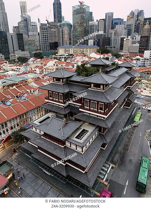Singapore, Singapore - October 18, 2018: Buddha Tooth Relic Temple in China Town