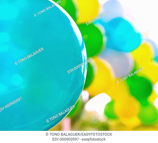 colorful balloon background pattern background green yellow