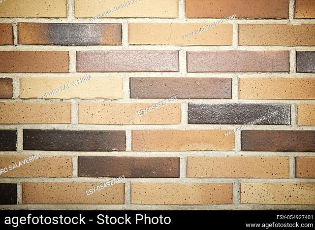 Front view of an brick wall in Spain
