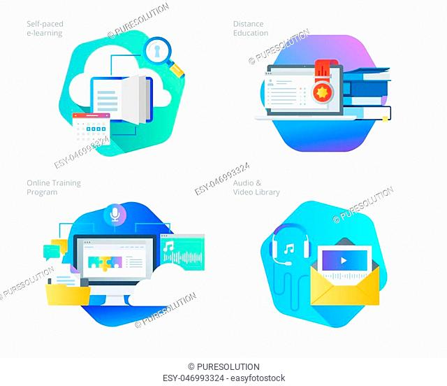 UI/UX kit for web design, applications, mobile interface, infographics and print design