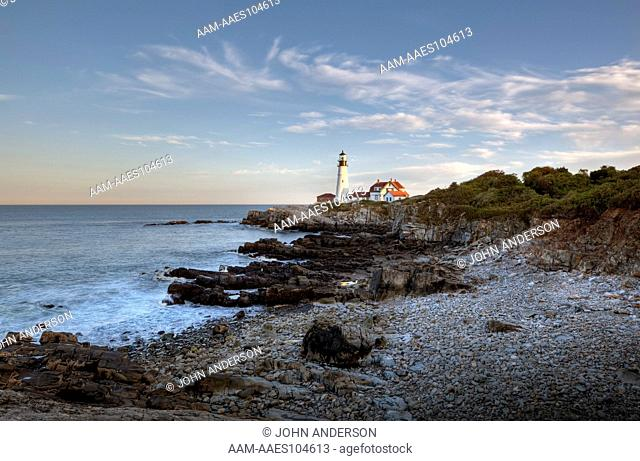 Lighthouse in Portland Maine in Fort Willams Park