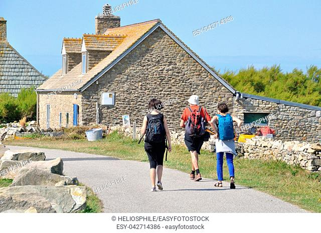GOURY- FRANCE,15 AUGUST, 2014: Hikers