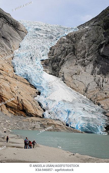 Briksdalsbreen Glacier, Jostedalsbreen, Song og Fjordane, Vestlandet, Norway